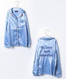 Lovetoxic/【セットアップ対応商品】サテンパジャマシャツ/002001179