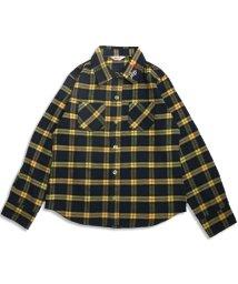 ALGY/衿刺繍チェックシャツ/002012739