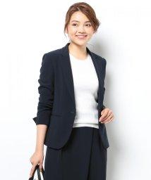 NIJYUSANKU/【スーツ&洗える!】トリアセダブルジョーゼット ジャケット/002016614