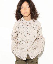 LAGOM/ツリー柄バンドカラーシャツ/002005848