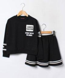 Lovetoxic/ロゴ入り裏毛トレーナー×ライン入りスカートセット/002010685