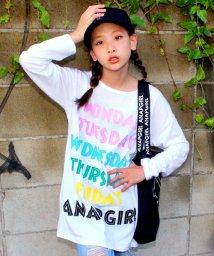 ANAP GiRL/WEEKロゴ BIGロングTシャツ/002009623