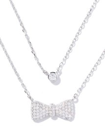 Folli Follie/FASHIONABLY SILVER リボンモチーフ二連ネックレス/002013259