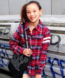 ANAP GiRL/BACKナンバーチェックシャツ/002015769