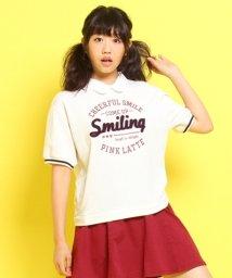 PINK-latte/ミニウラケ襟付き半袖トレーナー/002026153