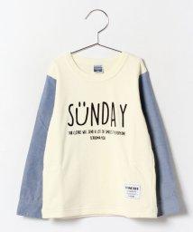 b-ROOM/裏パイル袖切替Tシャツ/002016824