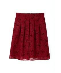 PROPORTION BODY DRESSING/シアーフラワーフロッキースカート/10240968N