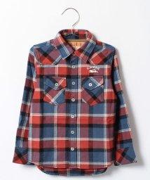 KRIFF MAYER(Kids)/コットンライトネルチェックシャツ/002015495