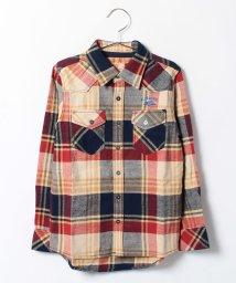 KRIFF MAYER(Kids)/コットンライトネルチェックシャツ/002015496