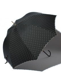 pink trick/雨晴兼用 長傘 (UVカット&軽量) ジャンプ傘 ピンドット /002015914