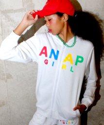 ANAP GiRL/カラフルロゴ ZIPパーカー/002017400