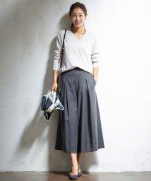 NIJYUSANKU/ライトサキソニーストレッチ スカーチョパンツ/002029845