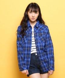 PINK-latte/バック刺しゅうチェックシャツ/002030799