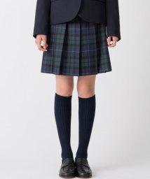 KUMIKYOKU KIDS/【PURETE】ウール綾チェック スカート(リボン付き)/002031781