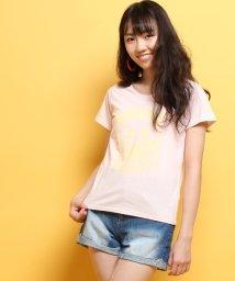PINK-latte/Neon Soda ロゴスマイルTシャツ/002033204