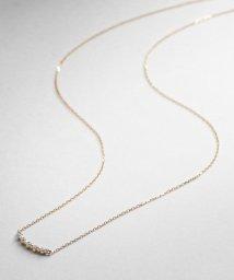 COCOSHNIK /ダイヤモンド ふせ込みアーチ5石 ネックレス/002033385