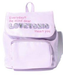 Lovetoxic/刺繍合皮リュック/002026030