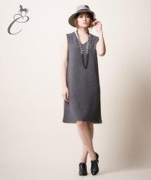 JIYU-KU /【Class Lounge・リバーシブル】ウーステッドカシミヤ ニットワンピース/002033552