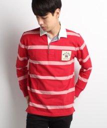TOMMY HILFIGER MENS/ロングスリーブストライプラグビーシャツ/002021539