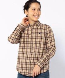 coen/ウィンターリネン2WAYチェックシャツ2/002027979