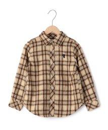 coen/【coen kids】ウィンターリネンチェックシャツ2(100〜150cm)/002028000