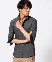 HIDEAWAYS NICOLE/ライトオンスイタリアンカラー7分袖シャツ/002036854