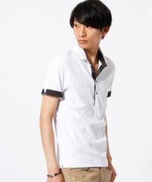 HIDEAWAYS NICOLE/リブ編みニットポロシャツ/002036858