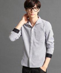 NICOLE CLUB FOR MEN/イタリアンカラーシャツ/002037066