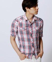 NICOLE CLUB FOR MEN/5分袖チェックシャツ/002037070