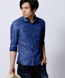 HIDEAWAYS NICOLE/7分袖シャンブレーツイルシャツ/002037117