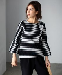AZUL by moussy/天竺フレアスリーブ長袖プルオーバー/002025081