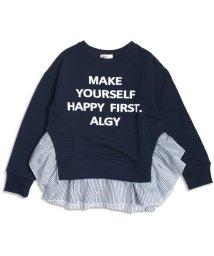 ALGY/ぷっくりロゴ裾フリルトレーナー/002037563
