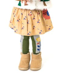 Petit jam / F.O.KIDS MART/お山柄と無地のペチパン付きスカート/002037614
