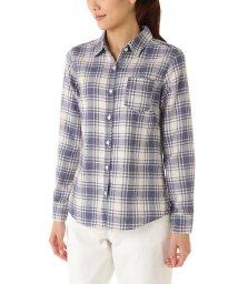 NATURAL BEAUTY BASIC/ヘリンボンチェックシャツ/002042021