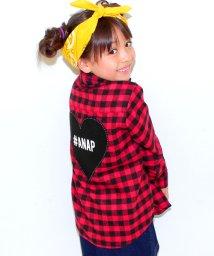 ANAP KIDS/ロゴワッペンチェックシャツ/002029011