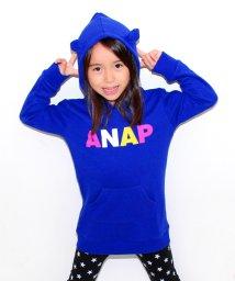ANAP KIDS/カラフルロゴ耳付きフーディー ワンピース/002029015
