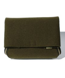 beautiful people/thick felt zipper clutch/002029361