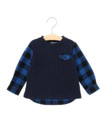 SHIPS KIDS/SHIPS KIDS:スウェット×シャツ コンビ クルーネック 《ネイビー》(80~90cm)/002042229