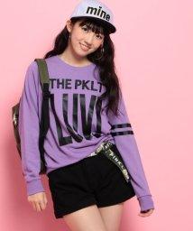 PINK-latte/ロゴ裏毛トレーナー/002045946