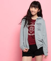 PINK-latte/ミニ裏毛ロゴパーカー/002045949