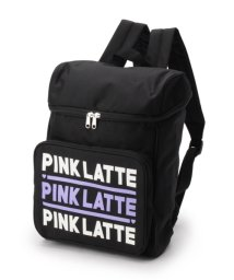 PINK-latte/ロゴ入りポリボックスリュック/002045953