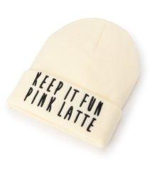 PINK-latte/二段ロゴニットキャップ/002045956