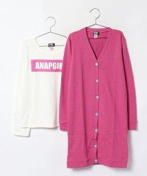 ANAP GiRL/ロゴロングカーディガン&ロングTシャツ SET/002034282