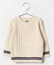 b-ROOM/ACニットライン入りセーター/002037301