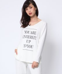 VICKY/Aライン長袖ロゴTシャツ/002022287