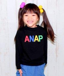 ANAP KIDS/発泡ロゴハイネックトップス/002041259