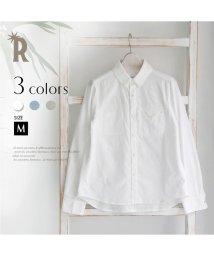 REAL CUBE/CLOCHE デザインポケットコットンスタンダードシャツ/002051550