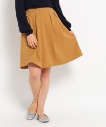 Couture Brooch/ツイル風タックフレアスカート/002052216