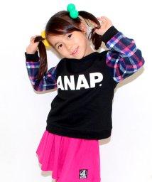 ANAP KIDS/チェック柄切替トップス /002043136
