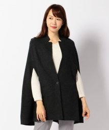 ICB(LARGE SIZE)/CompactStretchWool ポンチョ風ニットアウター/002054571